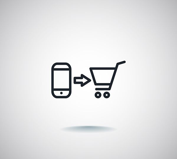 the purchase of a mobile phone icon